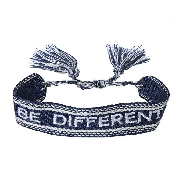 Be different armband - Donker blauw