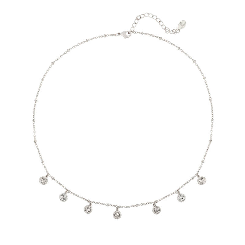 Ketting cute coin - Zilver