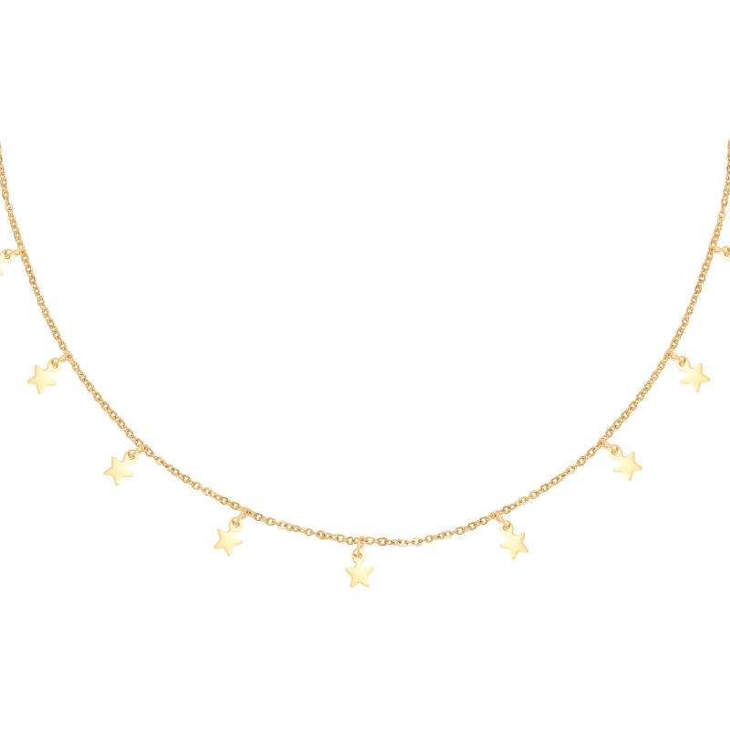Ketting floating stars - Goud