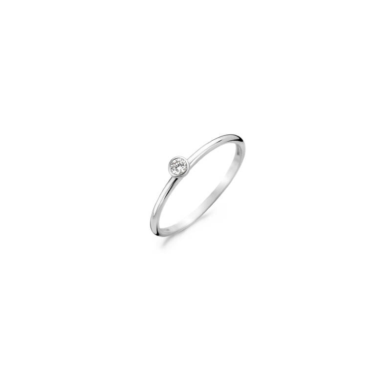 Blush Ring 1198WZI - Witgoud (14krt)