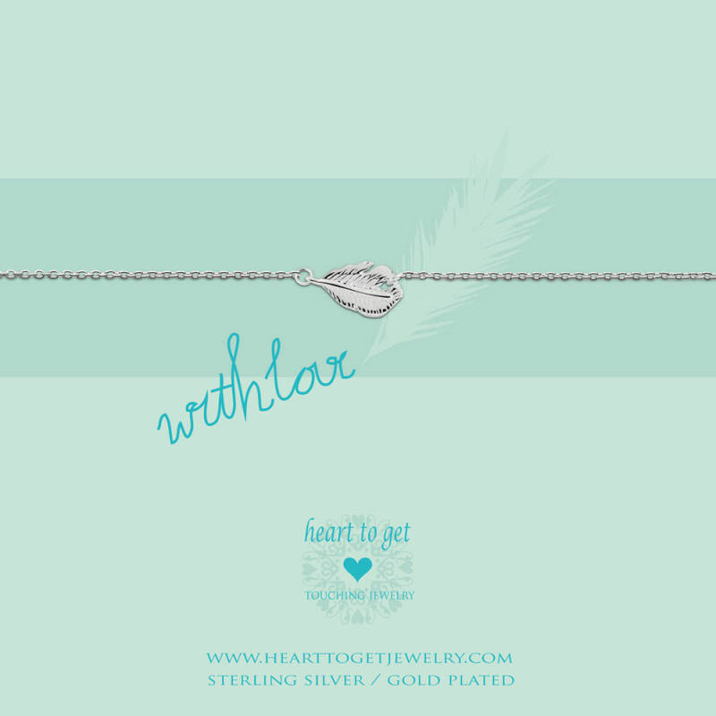 Heart to Get armband Feather B106FEA13S