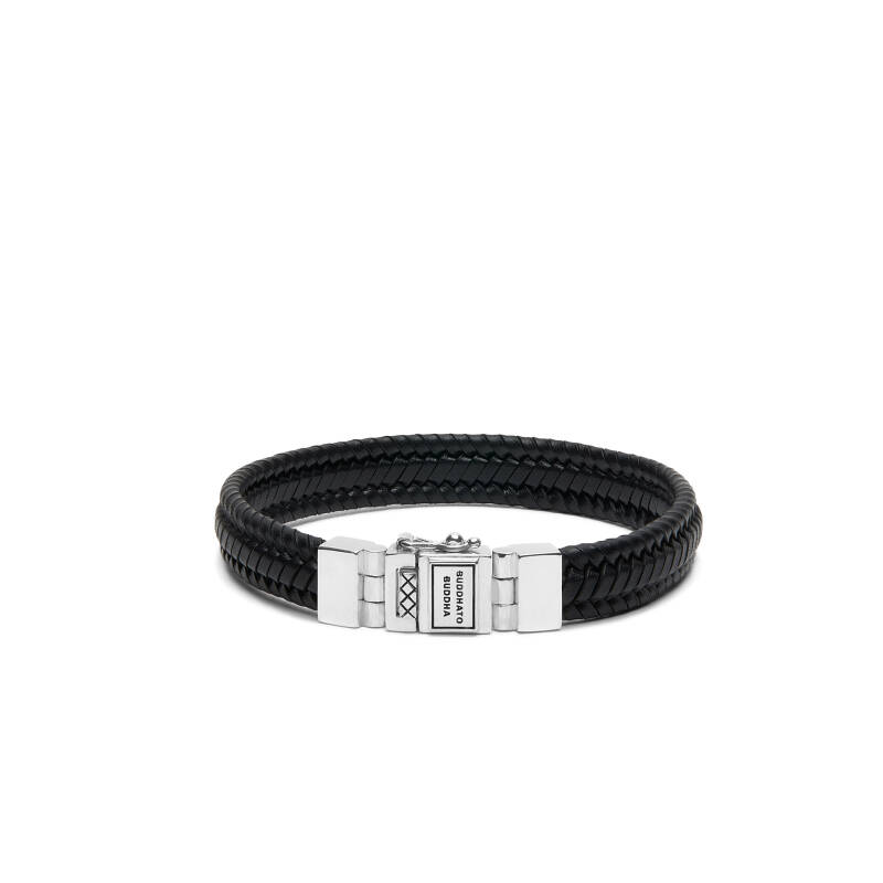 Buddha to Buddha Armband 181BL Edwin Small Leather Black