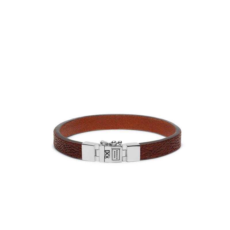 Buddha to Buddha Armband 186CO Essential Leather Texture Cognac