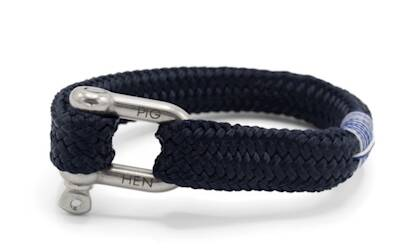 Armband Pig & Hen Gorgeous George Navy | Silver