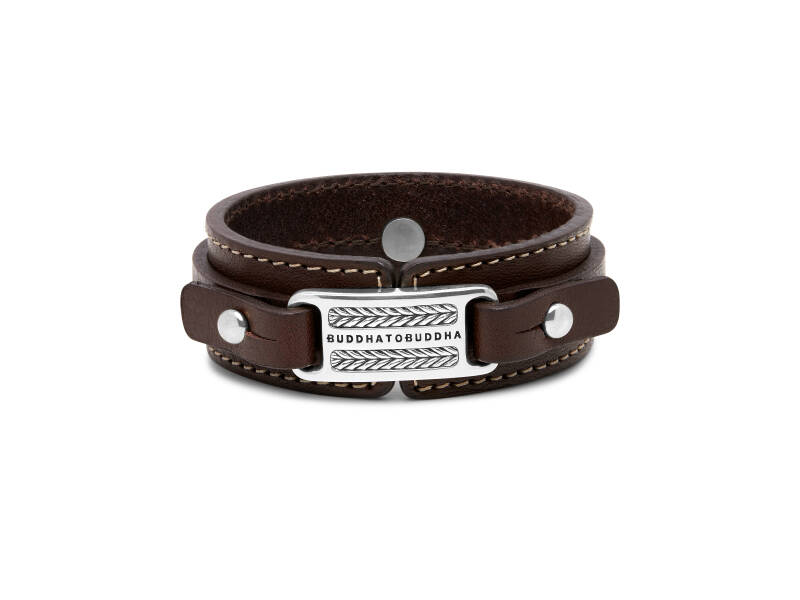 Buddha to Buddha Armband 140BR Jantan Leather Brown