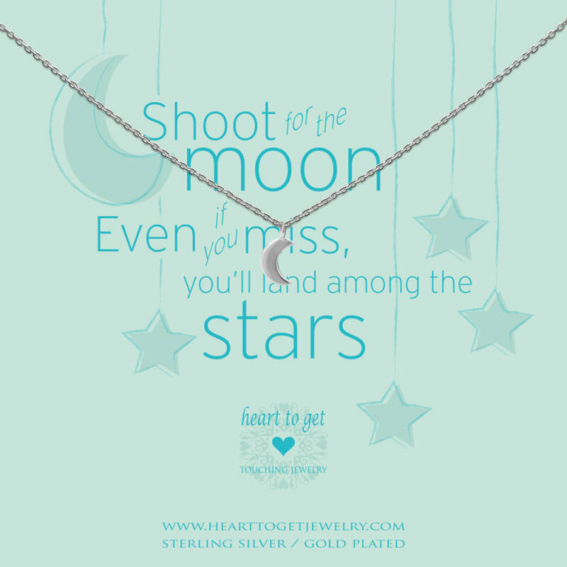 Heart to Get Collier Small Moon N247SMO15S