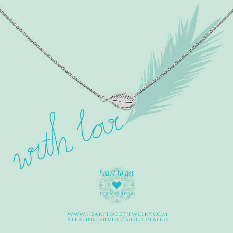 Heart to Get Collier Feather N43FEA12S