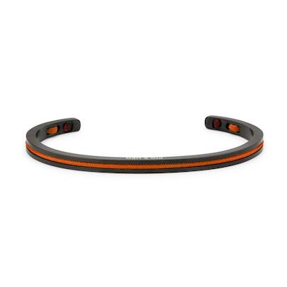Armband Pig & Hen Navarch 4mm Maple Orange | Black