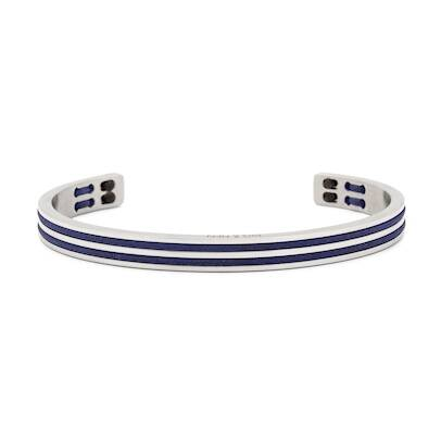 Armband Pig & Hen Navarch 6mm double  Navy / Navy | Silver