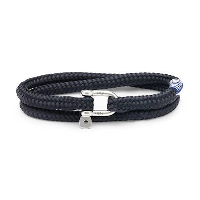 Armband Pig & Hen Salty Slim Navy | Silver