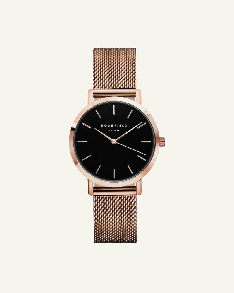 Rosefield The Tribeca Black Rosegold TBR-T59