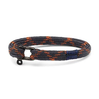 Armband Pig & Hen Vicious Vik Slate Gray / Maple Orange | Black