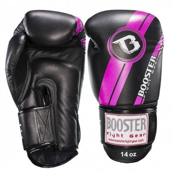 Booster Fight Gear Bokshandschoenen | Zwart/Roze