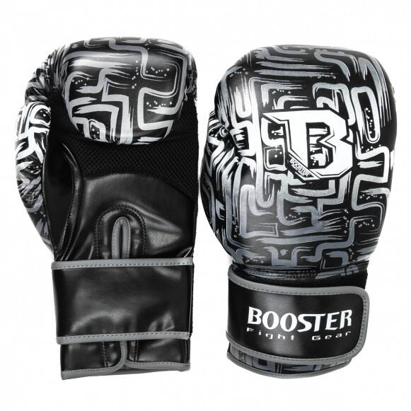 Booster Fight Gear Bokshandschoenen Labyrint | Zwart