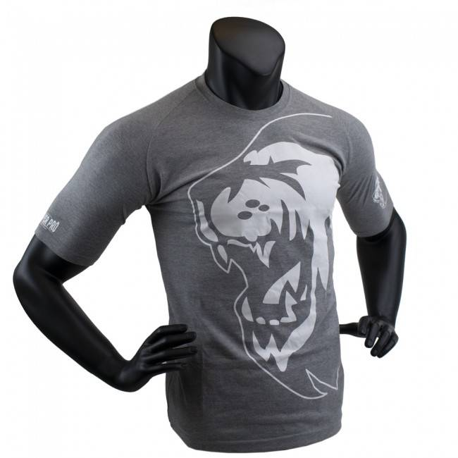 Super Pro Combat Gear T-shirt Lion | Grijs/Wit
