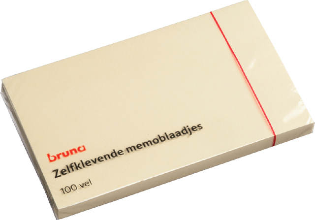 Memoblok Bruna 125x75mm geel