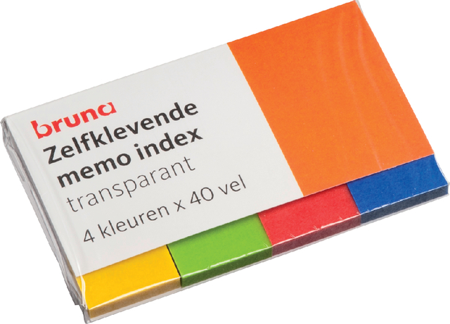 Indextabs Bruna 50x20mm neon 4x40 stuks