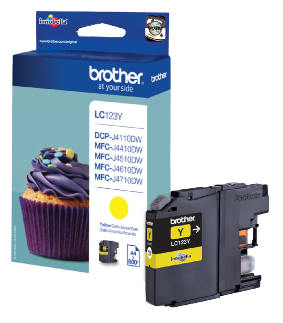 Brother LC-123Y geel