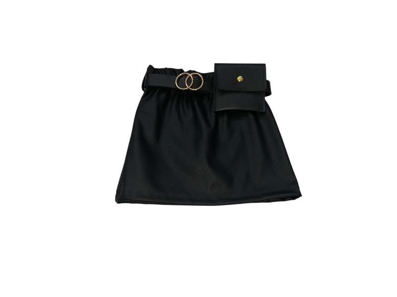 Leatherlook skirt with bag