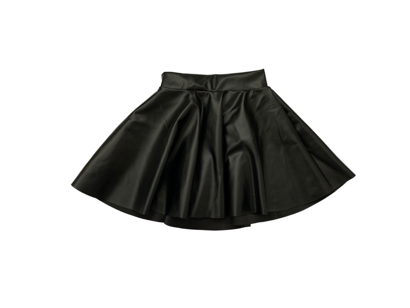 Leather look skirt baby