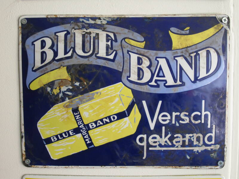 Emaille reclamebord Blue Band