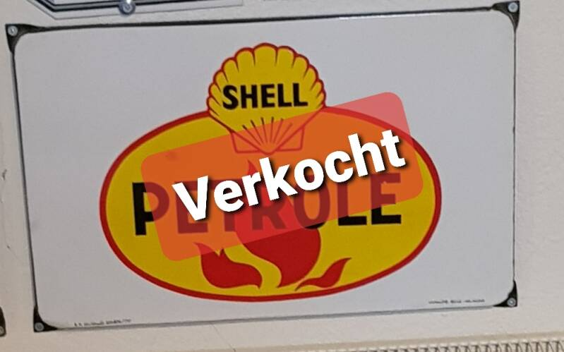 Emaille reclamebord Shell Petrole