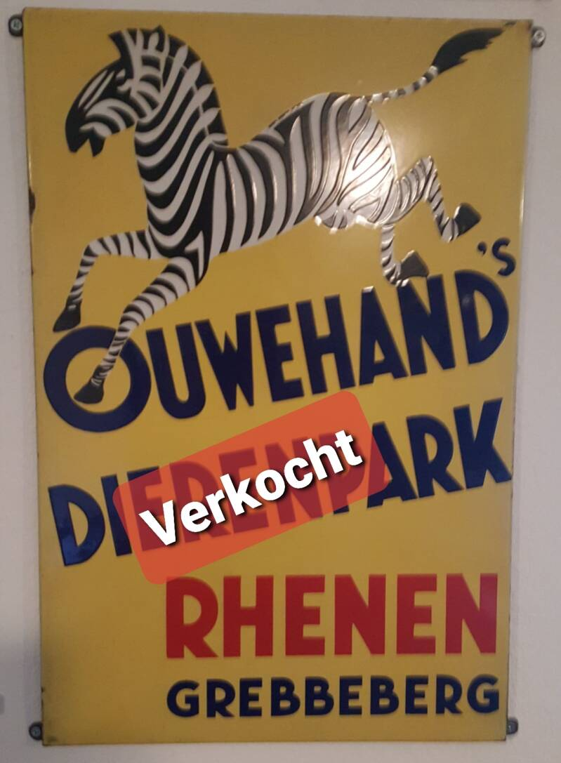 Emaille reclamebord  Ouwehands Dierenpark