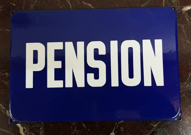 Emaille reclamebord Pension