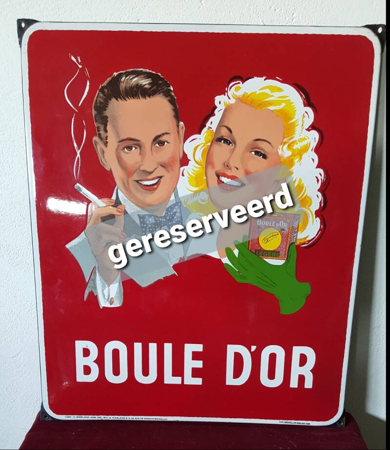 Emaille reclamebord Boule d'or