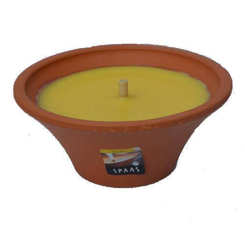 Spaas citronella kaars in terracotta schaal
