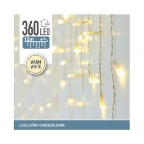Kerstverlichting 360 LED ijspegel