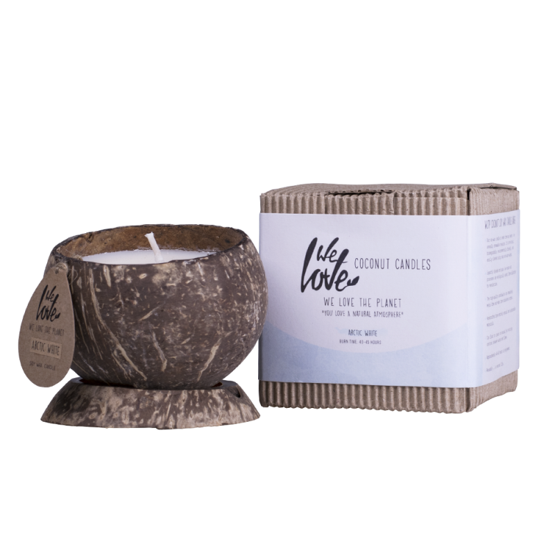 We Love The Planet Coconut Candle Arctic White
