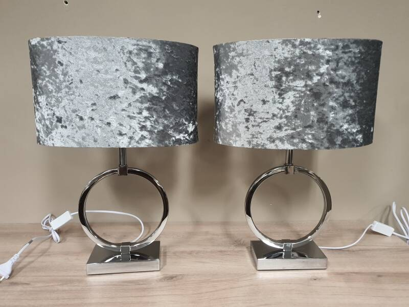 ring lamp zilver