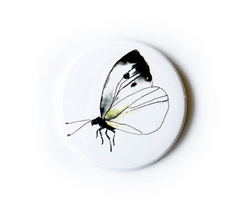 Badge, Cabbage Butterfly