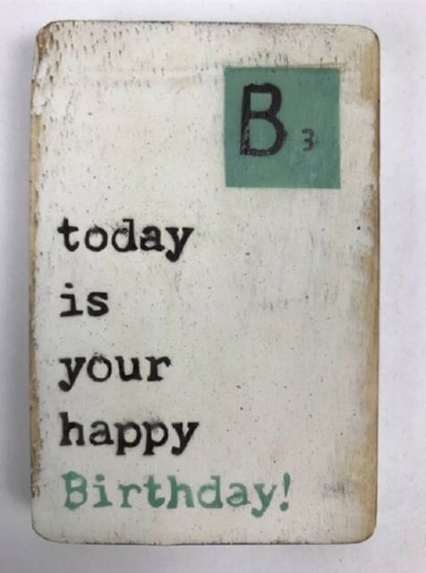 Today is your happy Birthday! - scrabble magneet