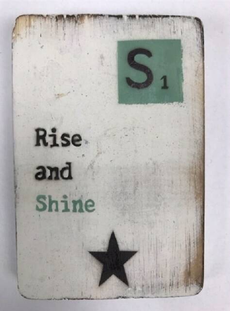 Rise and Shine - scrabble magneet