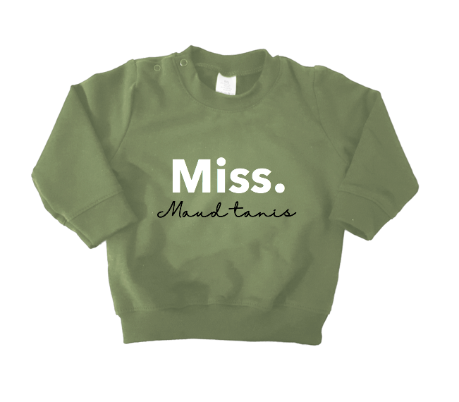 Sweater army green - Miss. 'naam'
