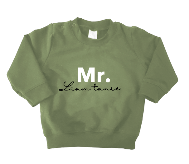 Sweater army green - MR. 'naam'