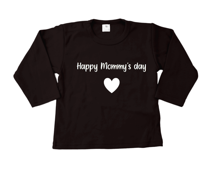 Shirt | Happy mommy's day | zwart