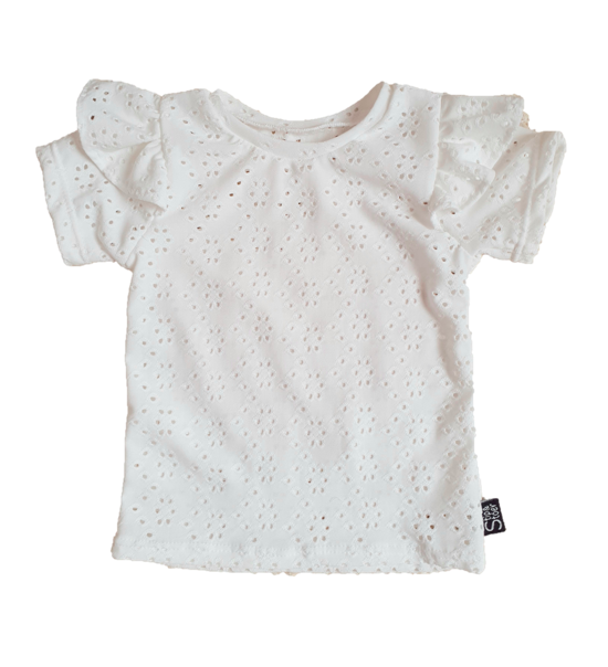 Ruffle top | broderie
