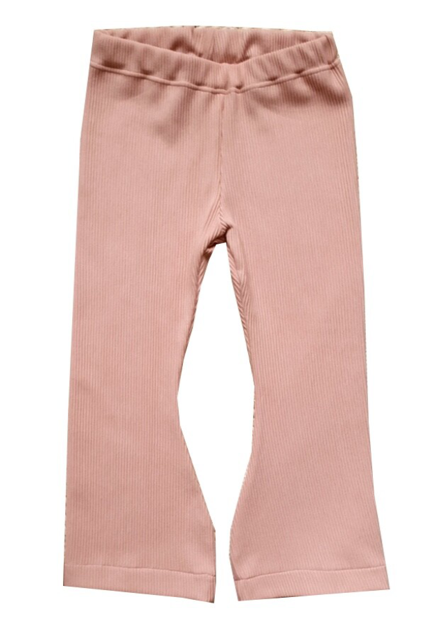 Flaired pants | Rib oud roze