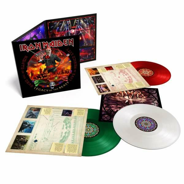 Iron Maiden: Nights Of The Dead, Legacy Of The Beast: Live In Mexico (180g) (Limited Edition) (Mexican Flag Triple Colored Vinyl) 3LP