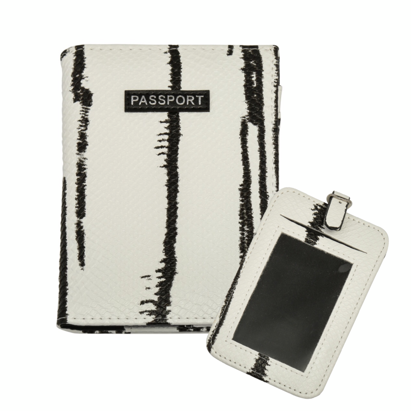 "Travel set ""Marble"" Wit"