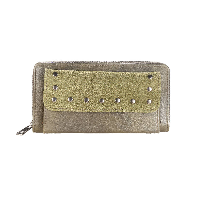 "Portemonnee ""Leather Studs"" Groen"
