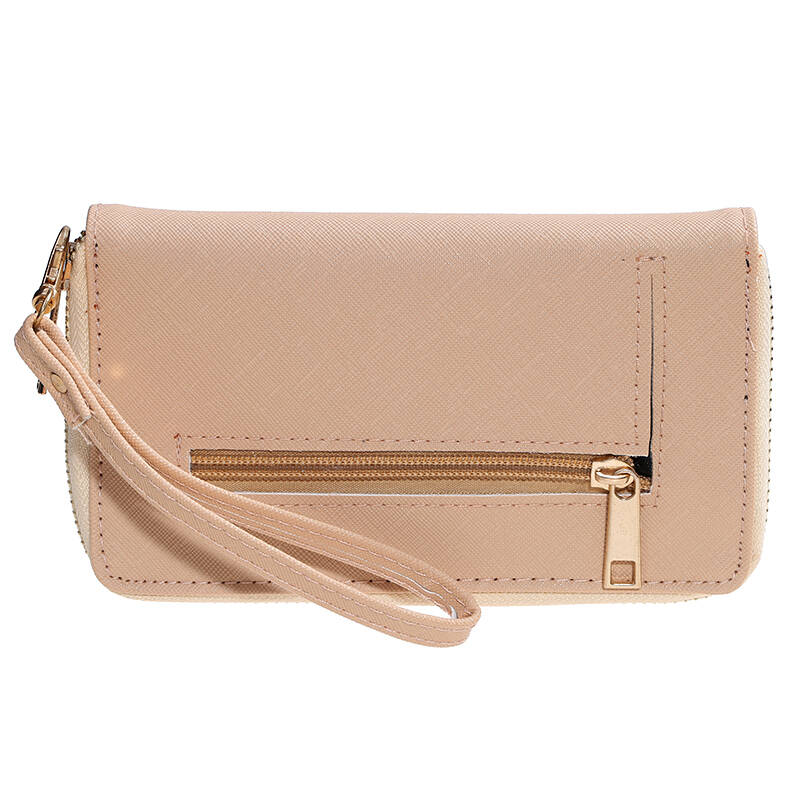 "Portemonnee ""Zip it"" Beige"