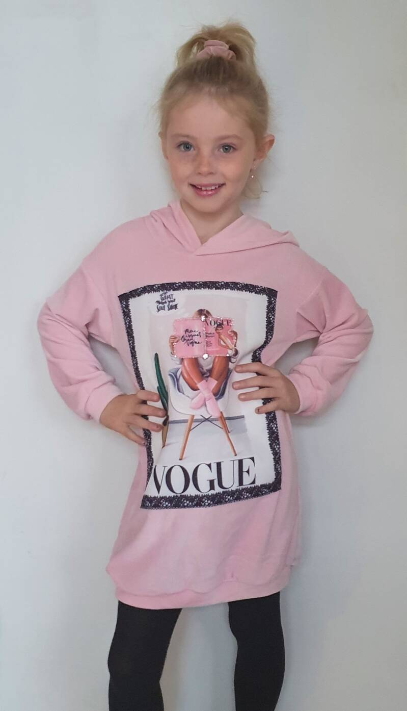 Sweatjurk - Pink Vogue
