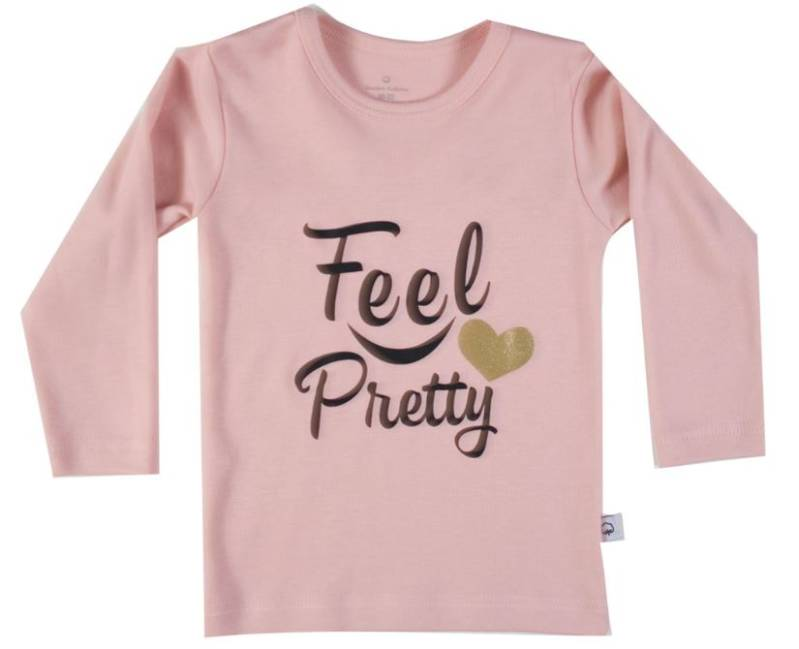 T-Shirt lange mouw - Roze 'Feel Pretty'