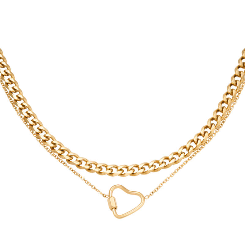 Dubbele Ketting Chained Heart