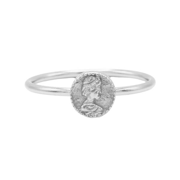 KARMA Ring zilver coin