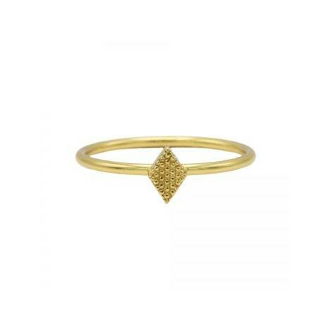 KARMA  ring diamond shape goud